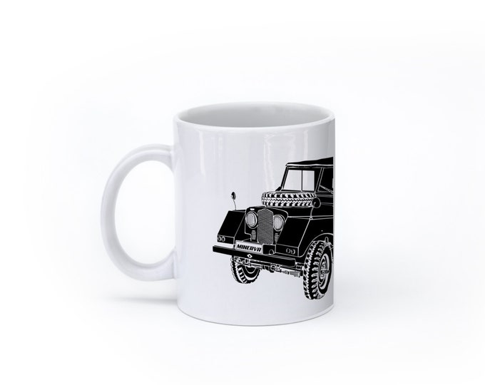 KillerBeeMoto:  U.S. Made Minerva Off Road Vehicle (White) Coffee Mug