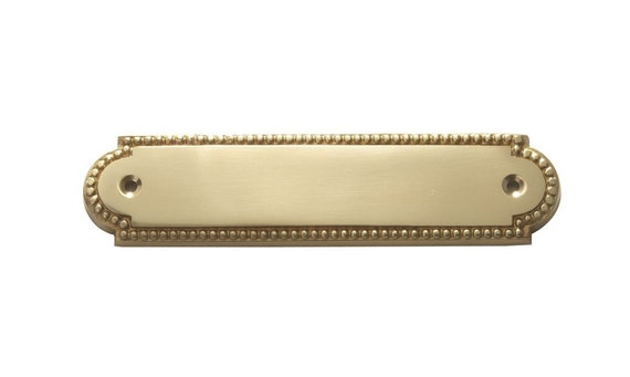 Items similar to noble design brass door plates name tags - Brass name plate designs for home ...