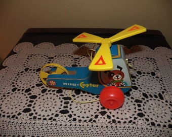 Fisher Price Mini-Copter #448, 1971 to 1984