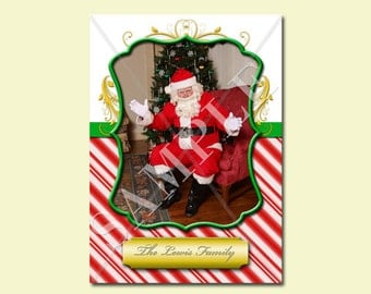 2017 5x7 Photoshop Christmas Card Template. Fully customizable. Just drop in your photo, change the name and you're ready to print!