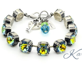 CRYSTAL CITRINE 47ss Crystal Chaton Bracelet Swarovski Elements *Pick Your Metal *Karnas Design Studio *Free Shipping DISCONTINUED