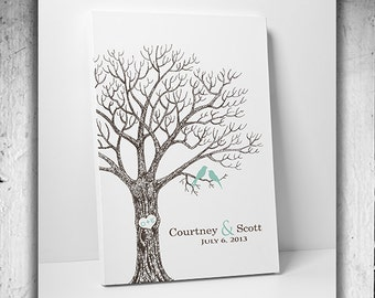 Thumbprint Wedding Tree Guest Book Alternative Personalized Wedding Gift Custom Wedding Keepsake Unique Guestbook Hand Drawn Wedding Tree