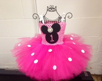 Minnie Mouse 1st Birthday Tutu Dress