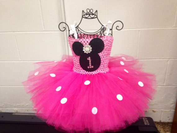 Minnie mouse 1st birthday tutu dress by amyklahndesigns on etsy