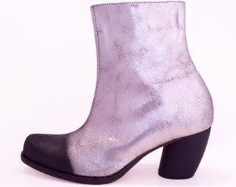 Marlene Two Tone - edgy European styled boot with hand painted toe cap detail