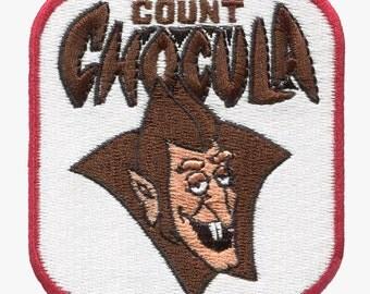 Count Chocula Dracula Patch Badge Vintage Retro TV 70's 80's Trucker Cap Hat