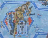 70s The Empire Strikes Back Twin Flat Sheet 1979 Star Wars Bed Linens Fabric