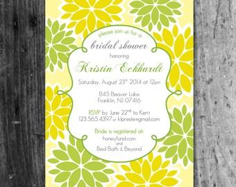 Citrus Flower Bridal Shower Invite - Digital file/Printable