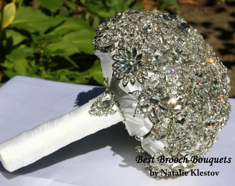 Bridal Brooch Bouquet. Deposit on made to order Crystal Bling Brooch Wedding Bouquet. Diamond Broach Bouquet. Heirloom Broach Bouquet