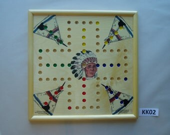 WAHOO GAME BOARD Wooden 15 x 15 Inch 4 Player with images.  kk02
