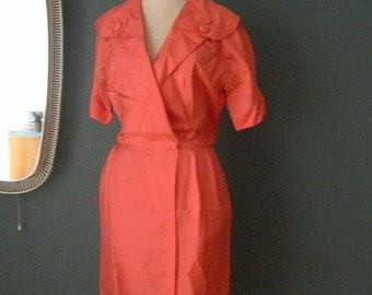 original 1950s silk dress