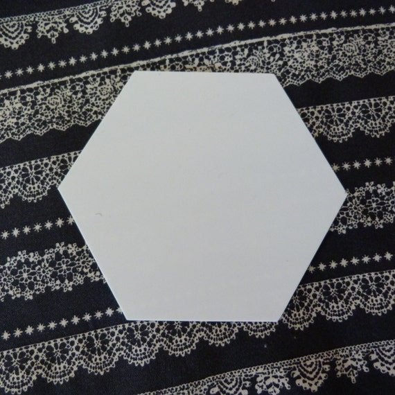 How To Use Plastic Quilting Templates : Plastic Hexagon Quilt Template for English Paper Piecing and