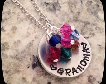 SALE Gift for her, Grandma Necklace, Nana Grandma Gift, Personalized Jewelry, Mommy Necklace