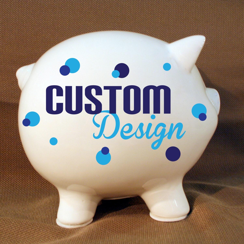 5 5 custom piggy bank personalized piggy bank wedding for Make your own piggy bank