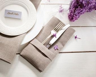 Linen napkins set of 12 - Linen napkin cloths - wedding napkins - Organic napkins - Linen serviettes