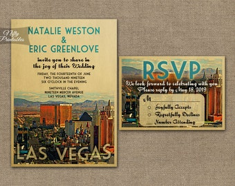 las vegas wedding invitations | etsy, Wedding invitations