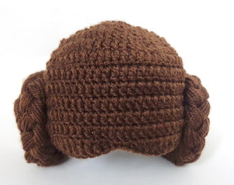 Princess Leia Hat From Star Wars Costume For Newborn, Baby to Adult Halloween / Cosplay / Baby Shower Giftn