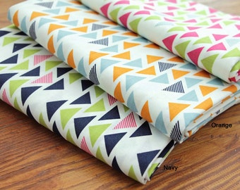 Cotton Fabric Triangle in 3 Colors By The Yard