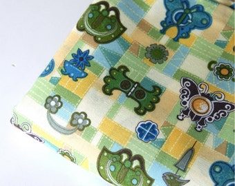Cotton Fabric Green By The Yard