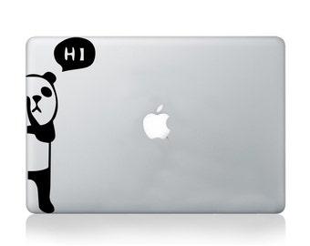 Panda Bear Decal Sicker for Macbook Pro Air, Laptop, Notebook - Decals for Macbook - Sticker for Macbook - Panda Bear