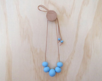Handmade Resin Bead Necklace in BLUE