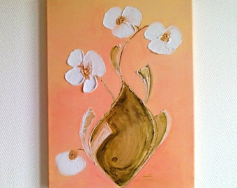 Blossom Flower  Original abstracte Acrylic Painting