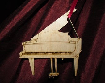 Laser cut and engraved wooden, Grand Piano