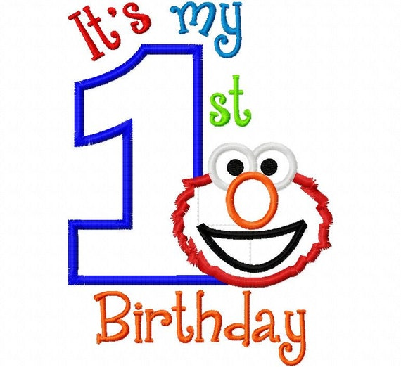 1st birthday monster clipart