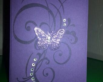 Butterfly Swirl Card