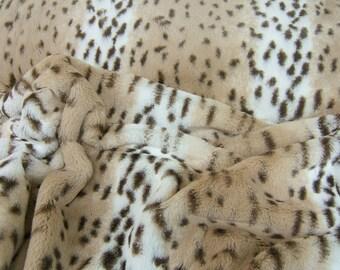 By the Yard, Cuddle by Shannon Fabrics, Snow Leopard Cuddle Fabric, Animal Print Cuddle, Soft Warm and Cozy Cuddle Fabric, Cuddle Fabrics