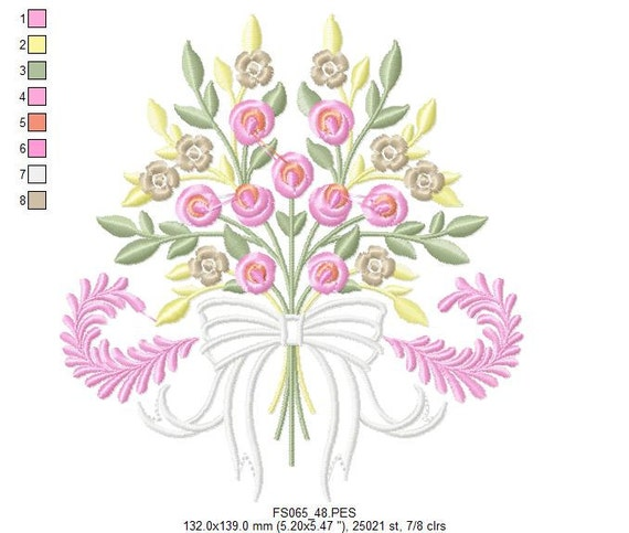 Endearing Rose Heirloom Embroidery Designs - PES