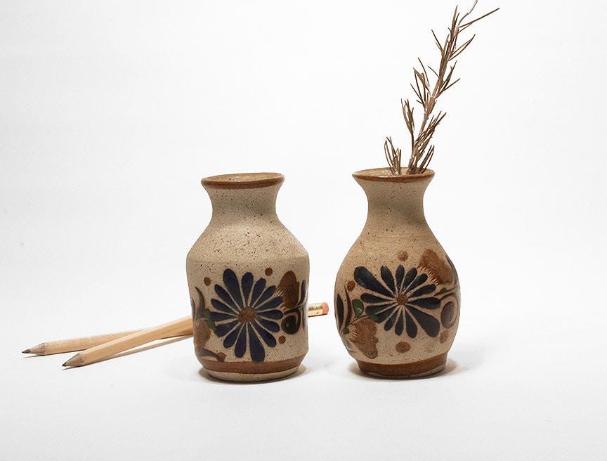 Vintage Mexican Pottery Vases Vintage Home Decor Tonala