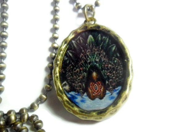 chrono trigger jewelry lavos pendant in brass antiqued gold on