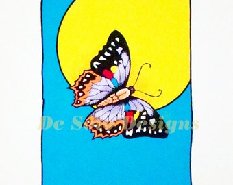 7 Color Serigraph Butterfly Print  -   Limited Edition Prints