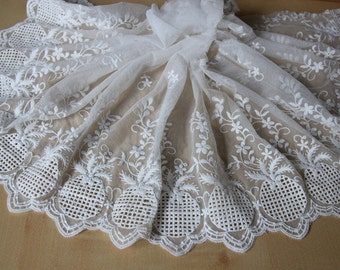 """11.8"""" wide DIY Lace fabric ,Ananas comosus lace trim,white lace ribbon for sewing"""