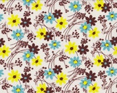 Japanese cotton fat quarter by Kei - Vintage Time small floral in blue and yellow