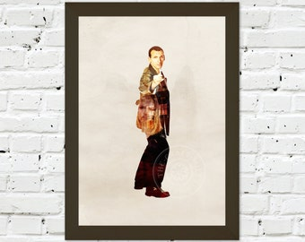 0054 Dr Who Christopher Eccleston A3 Wall Art Print Multiple Sizes