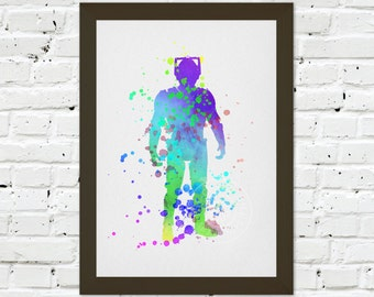 0068 Dr Who Cyberman A3 Wall Art Print Multiple Sizes