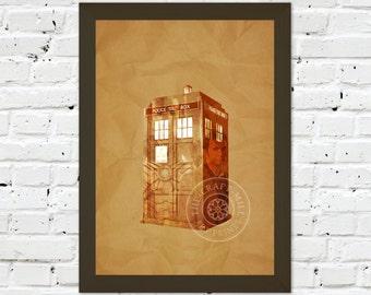 0083 Dr Who Tardis A3 / A4 Wall Art Print