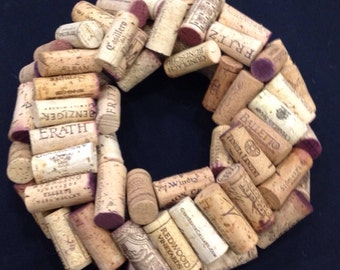 Small wine cork wreath