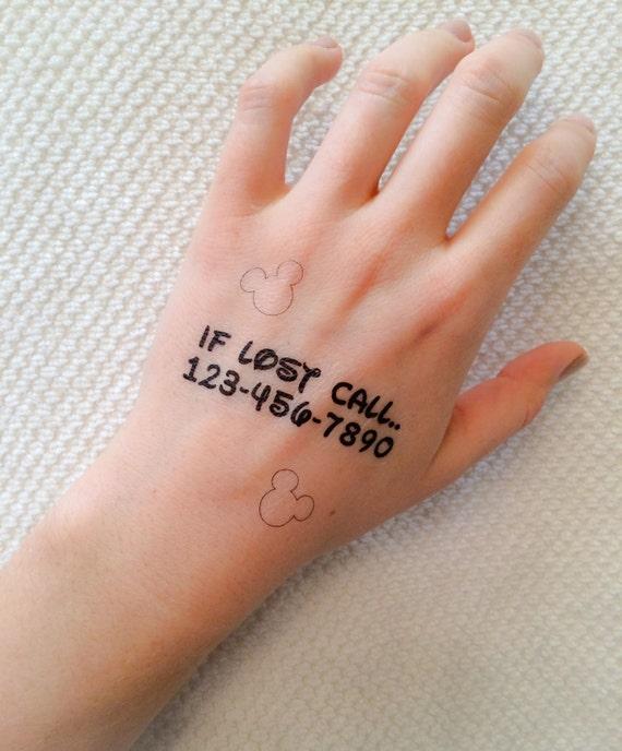 2 emergency contact temporary tattoos smashtat for Where can i get a temporary tattoo