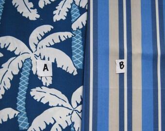 Nautical Palm Outdoor Pillow Cover Blue Beach Stripe Fabric Coastal Patio Porch Home Decor Throw Pillow
