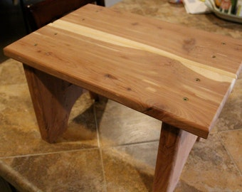 step stool, wooden step stool, kids step stool, kitchen step stool, cabin furniture, stool, childrens step stool,  pet stool