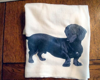 Kitchen Flour Sack Towel (Dachshund)