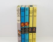 Vintage Mystery Book Mini Library 6 Books Bobssey Twins Hardy Boys, Nancy Drew 1960s - AtomicaToys
