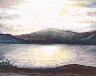 Late evening on a Scottish Loch