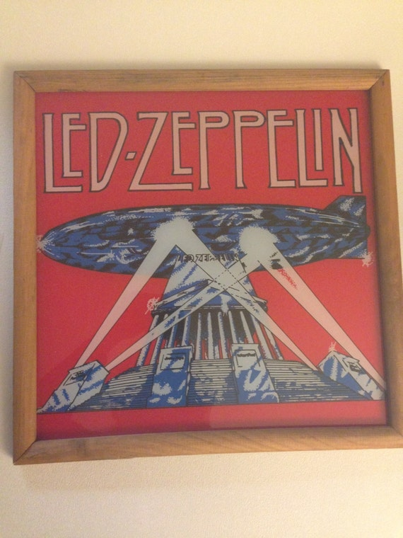 Vintage Led Zeppelin Record Album Art Rock N Roll
