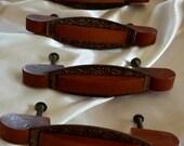Vintage Art Deco Furniture Drawer Pulls Hardware Handles  Honey Amber Bakelite #bakelite #vintagedrawerpulls