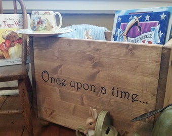 Wooden toy box etsy once upon a time nursery decor wooden box book box baby shower gift negle