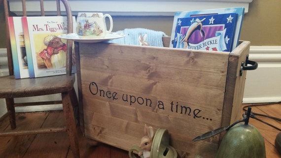 Baby Bedroom In A Box Special: Once Upon A Time Nursery Decor Wooden Box Book Box Baby